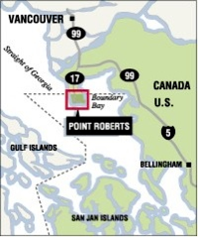Point Roberts bold map