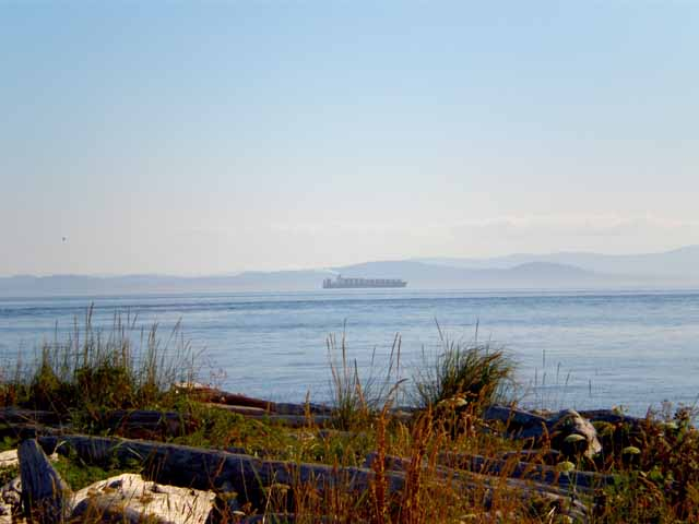 Georgia Straight view of Vancouver Island