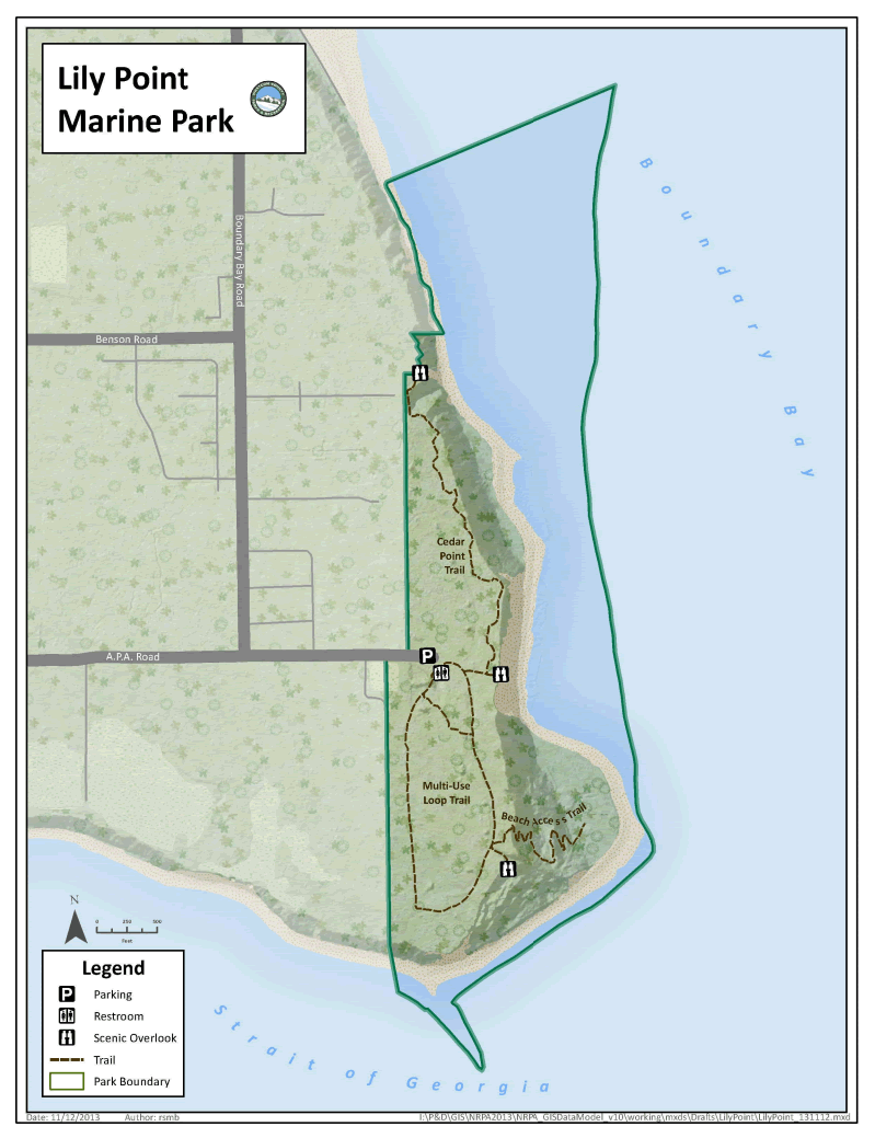 Lily Point Marine Park Map