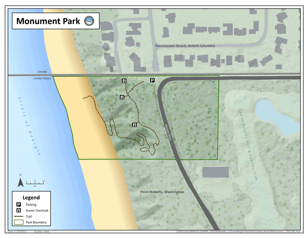 Map of Monument Park