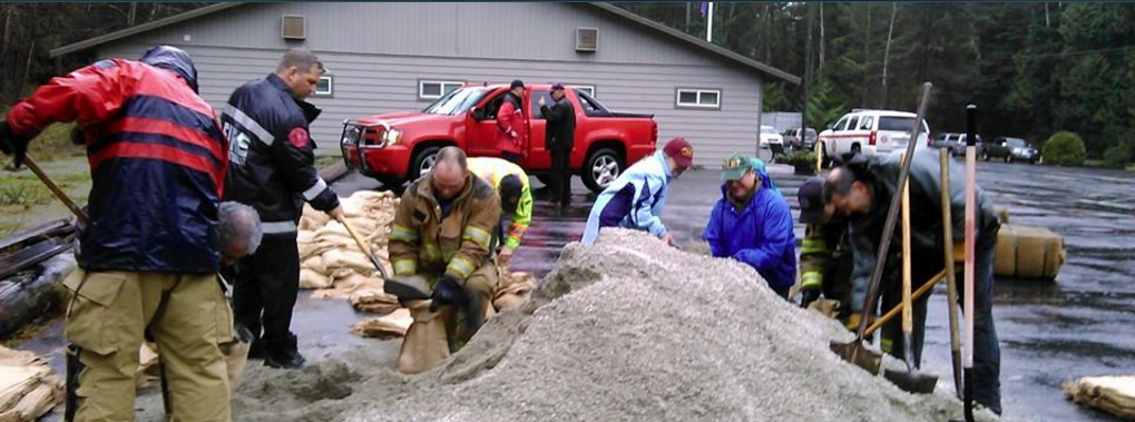 PREP Team filling sand bags